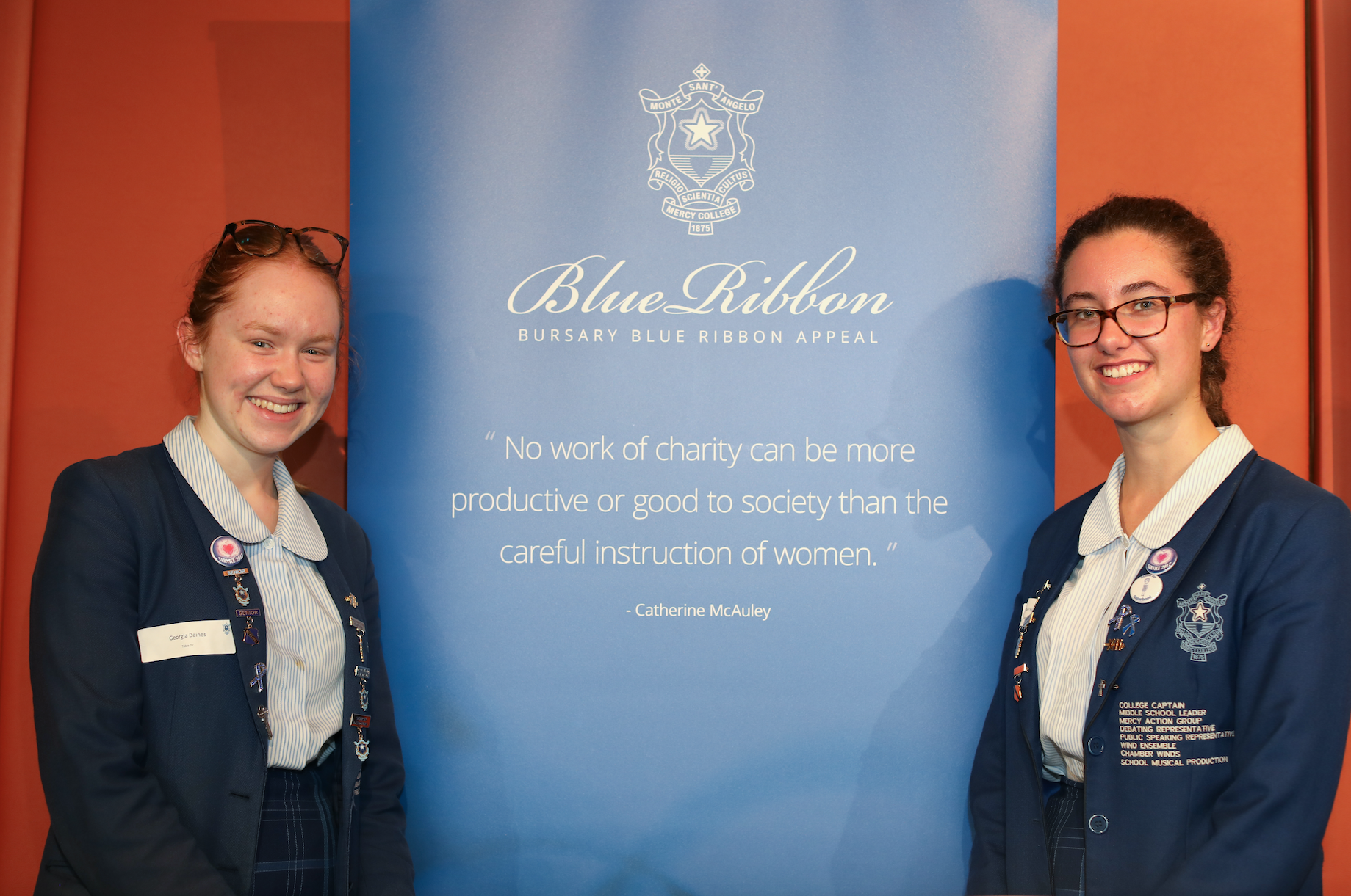 College Captain and Blue & Blue Scholar at Blue & Blue Lunch 2017
